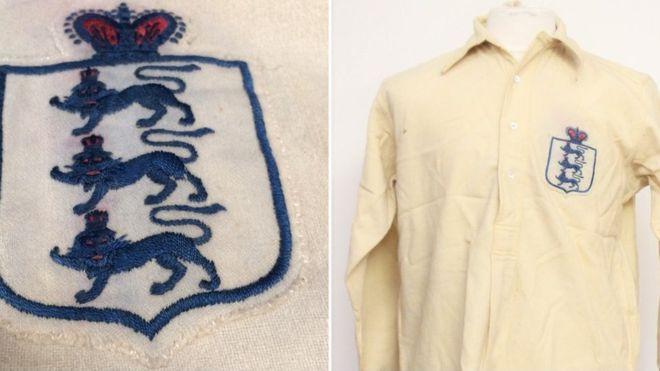 England shirt 1911 auction