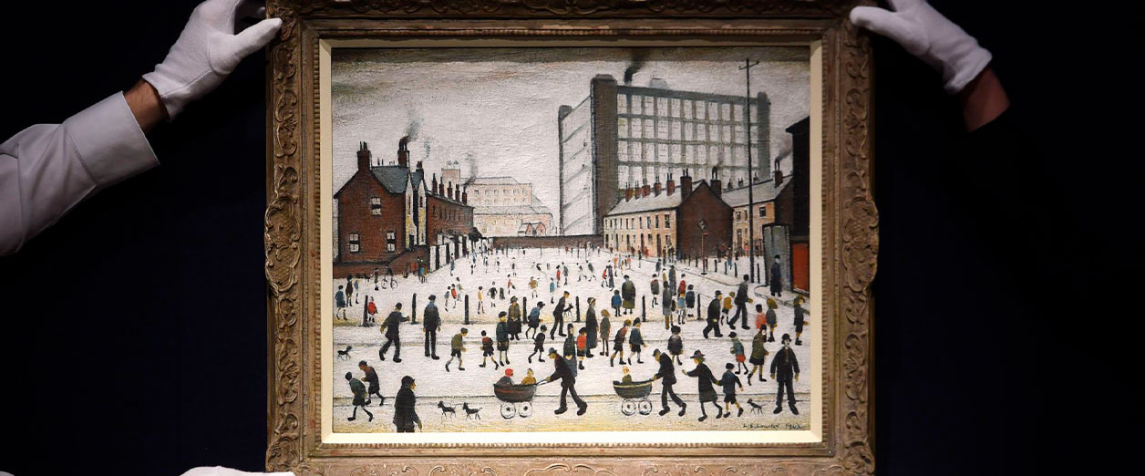 LS Lowry The Mill Pendlebury Auction