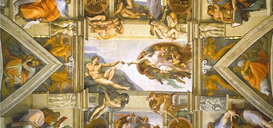 Sistine Chapel Ceiling (1512) - Michaelangelo