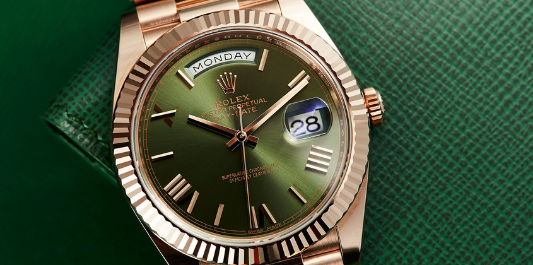 The Rolex Day-Date was launched in 1956 and became the first watch to show the day and the date