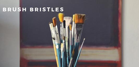 Do original artworks contain brush bristles? No.