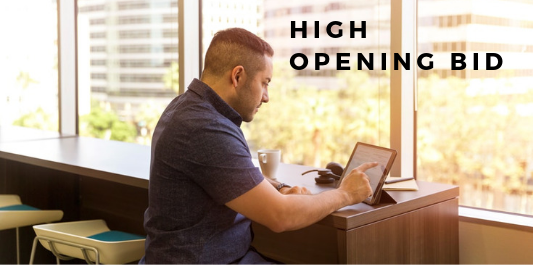 Online selling mistakes - high opening bid