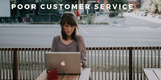 Online selling mistakes - poor customer service