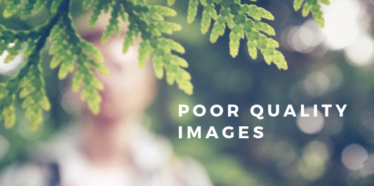 Online selling mistakes - poor quality images